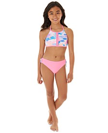 Big Girls 2-Pc. Printed Bikini Swim Suit