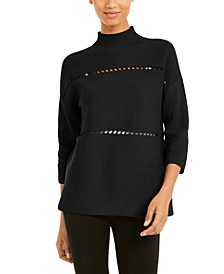 Cotton Pointelle Poncho Sweater, Created for Macy's