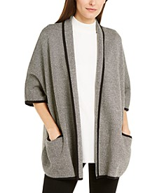 Birdseye-Knit Dolman-Sleeve Open-Front Cardigan, Created For Macy's