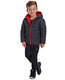 Toddler Boys Reversible Pronto Puffer Hooded Jacket