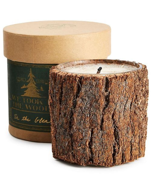 We Took to the Woods In the Glen Bark Candle