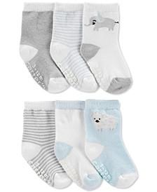 Baby Boys 6-Pk. Printed Socks