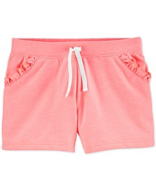 Little & Big Girls Ruffled Pull-On French Terry Shorts