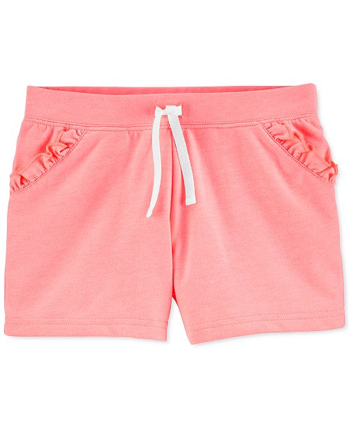 Carter's Little & Big Girls Ruffled Pull-On French Terry Shorts