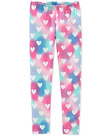 Little & Big Girls Heart-Print Leggings