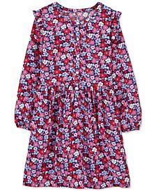 Little Girls Floral-Print Ruffled Dress
