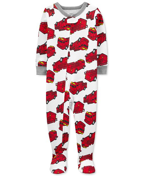 Carter's Baby Boys 1-Pc. Firetruck-Print Footed Pajama