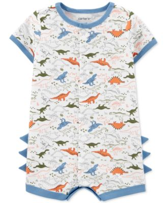 Baby Boys Cotton Dinosaur Romper