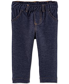 Baby Girls Knit Denim Jeggings