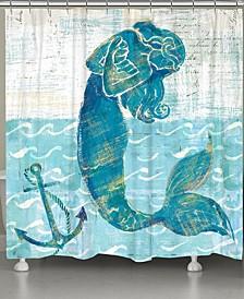 Mermaid of the Seven Seas Shower Curtain