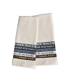 Lake Rules 2-Pc. Hand Towel Set