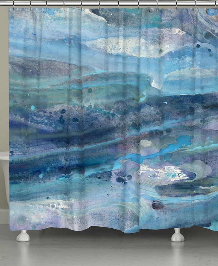Laural Home - Rolling Waves Shower Curtain