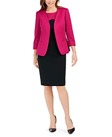 Open-Front Jacket and Colorblocked Sheath Dress