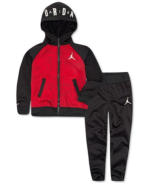 Jordan Toddler Boys 2-Pc. Therma-FIT Colorblocked Hoodie & Jogger Pants Set