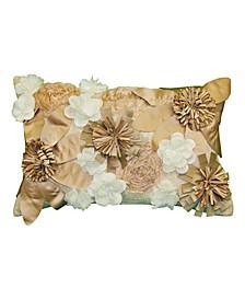 "Dramatic Floral Decorative Pillow, 25"" x 13"""