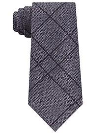 Men's Slim Knit Plaid Silk Tie