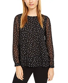 Ritz Dot Double-Layer Blouse