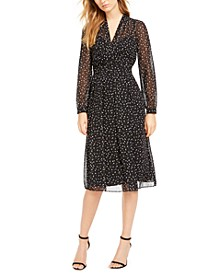 Ritz Dot-Print V-Neck Dress