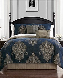 Ryan Reversible Queen 4 Piece Comforter Set