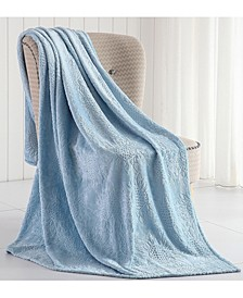 Samantha Sunflower Plush Throw Blanket