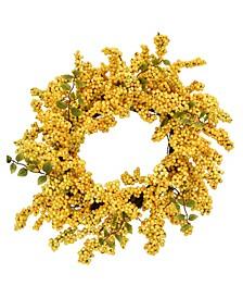 """24"""" D Golden Soft Touch Wreath"""