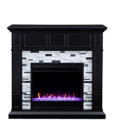 Lysander Marble Color Changing Electric Fireplace