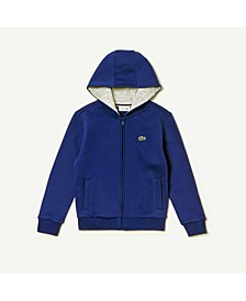 Toddler, Little and Big Boys Sport Hooded Full Zip Fleece Hoodie