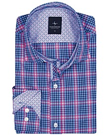 Big Boys Peri Blue Plaid Button-Down Shirt