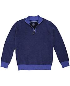Big Boys Birdseye Quarter-Zip Sweater