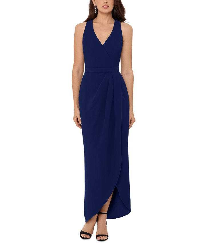 XSCAPE - Stretch Crepe Tulip-Skirt Gown