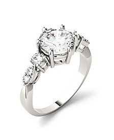 Moissanite Engagement Ring 2-1/5 ct. t.w. Diamond Equivalent in 14k White Gold