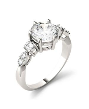 Moissanite Engagement Ring 2-1/5 ct. t.w. Diamond Equivalent in 14k White Gold
