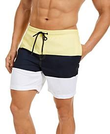 """Men's Colorblocked 7"""" Swim Trunks, Created for Macy's"""