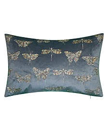 Metallic Butterfly Decorative Pillow
