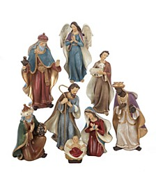 6.25-Inch Resin Nativity Set of 8 Pieces