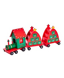 6.5-Inch Train Advent Calendar, 3 Piece Set