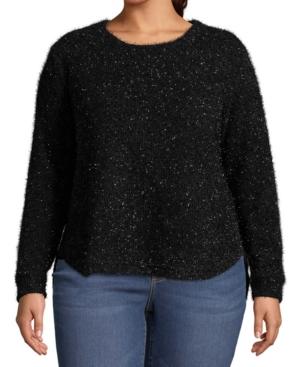 Plus Size Metallic Pullover Sweater