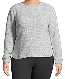 Plus Size Metallic Pullover Sweater