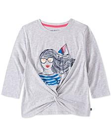 Big Girls Sailor Girl Twist-Front T-Shirt
