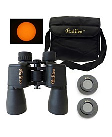 12 x 50mm Wide Angle Binocular Kit with Solar Filter Caps