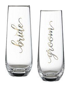Bride Groom Champagne Glass Set