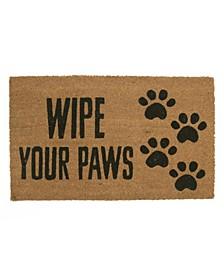 Wipe Your Paws Coir Door Mat