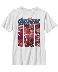 Marvel Big Boys Avengers Endgame Red Tint Panels Short Sleeve T-Shirt