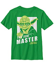 Star Wars Big Boys Galaxy of Adventures Yoda The Master B1P Short Sleeve T-Shirt