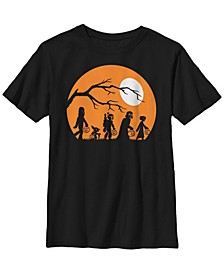 Star Wars Big Boy's Trick Or Treat Halloween Silhouette Short Sleeve T-Shirt