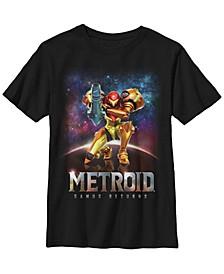 Nintendo Big Boy's Metroid Samus Returns Portrait Short Sleeve T-Shirt