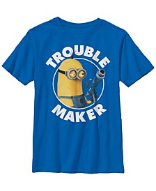 Despicable Me Big Boy's Minions Kevin Trouble Maker Short Sleeve T-Shirt