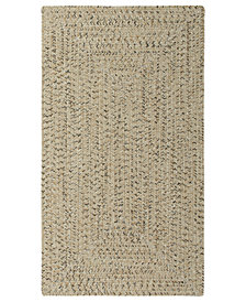 Capel Area Rug, Indoor/Outdoor Sea Glass Rectangular Braid 0110-600 Shell 2' x 3'