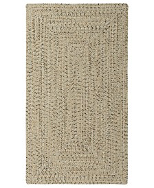 Capel Area Rug, Indoor/Outdoor Sea Glass Rectangular Braid 0110-600 Shell 8' x 11'