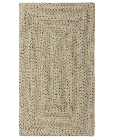 Capel Rugs, Indoor/Outdoor Sea Glass Rectangular Braid 0110-600 Shell